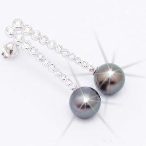 Pearl and Diamond Drop Studs