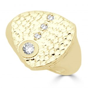 Gold and Diamond Gents Ring